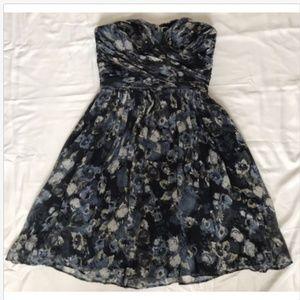 J Crew Collection Silk Chiffon Watercolor Dress